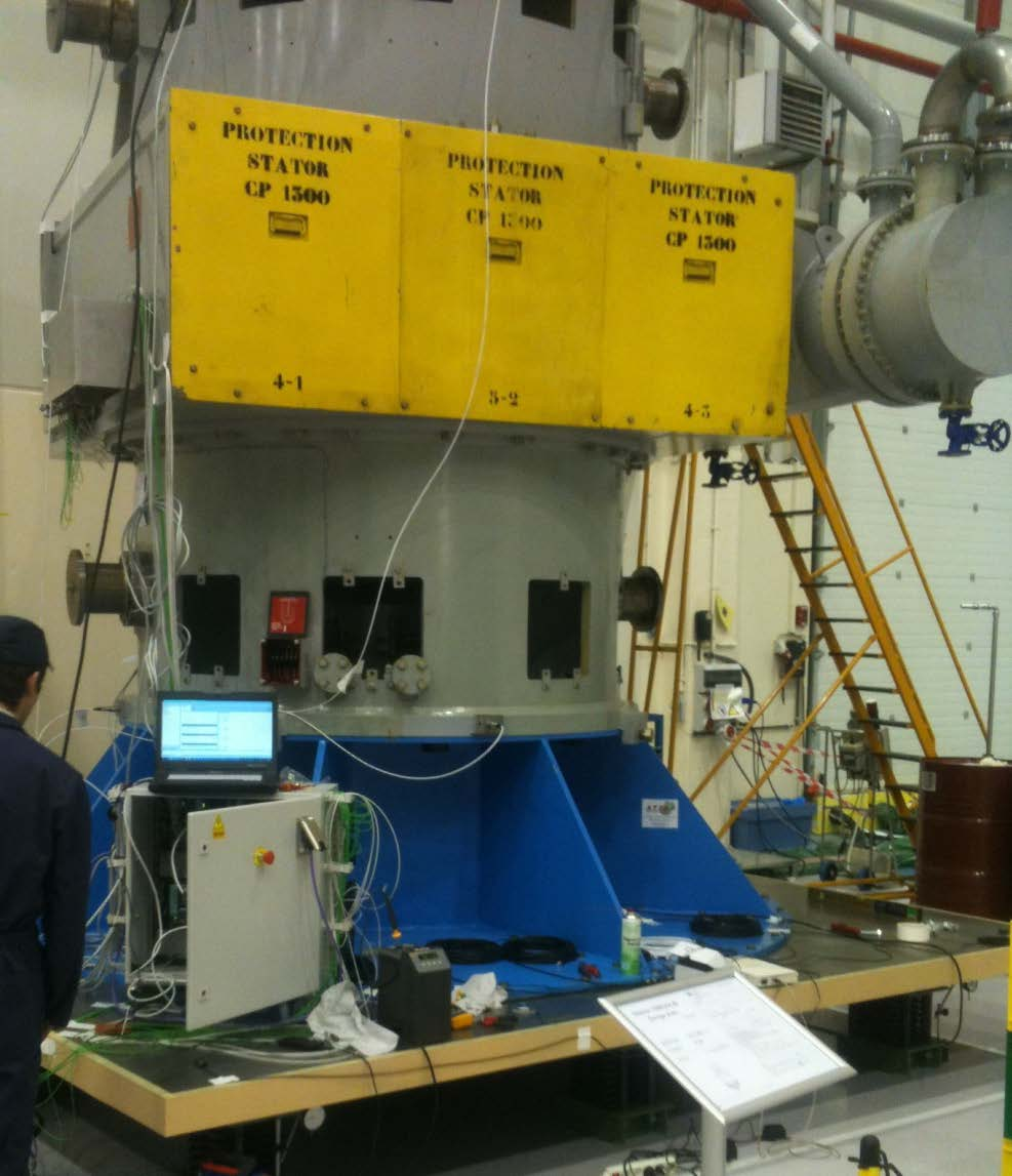 Dynamic test rig for Pump motor or nuclear unit